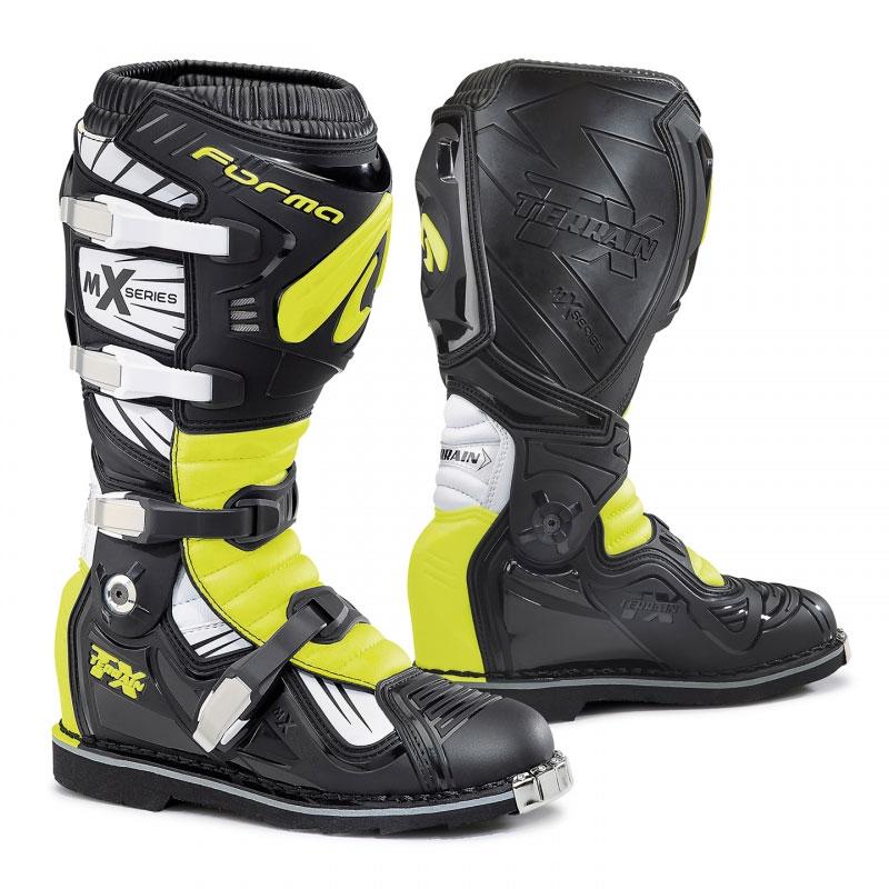 Motocross-Stiefel Forma Terrain TX Gelb Fluo