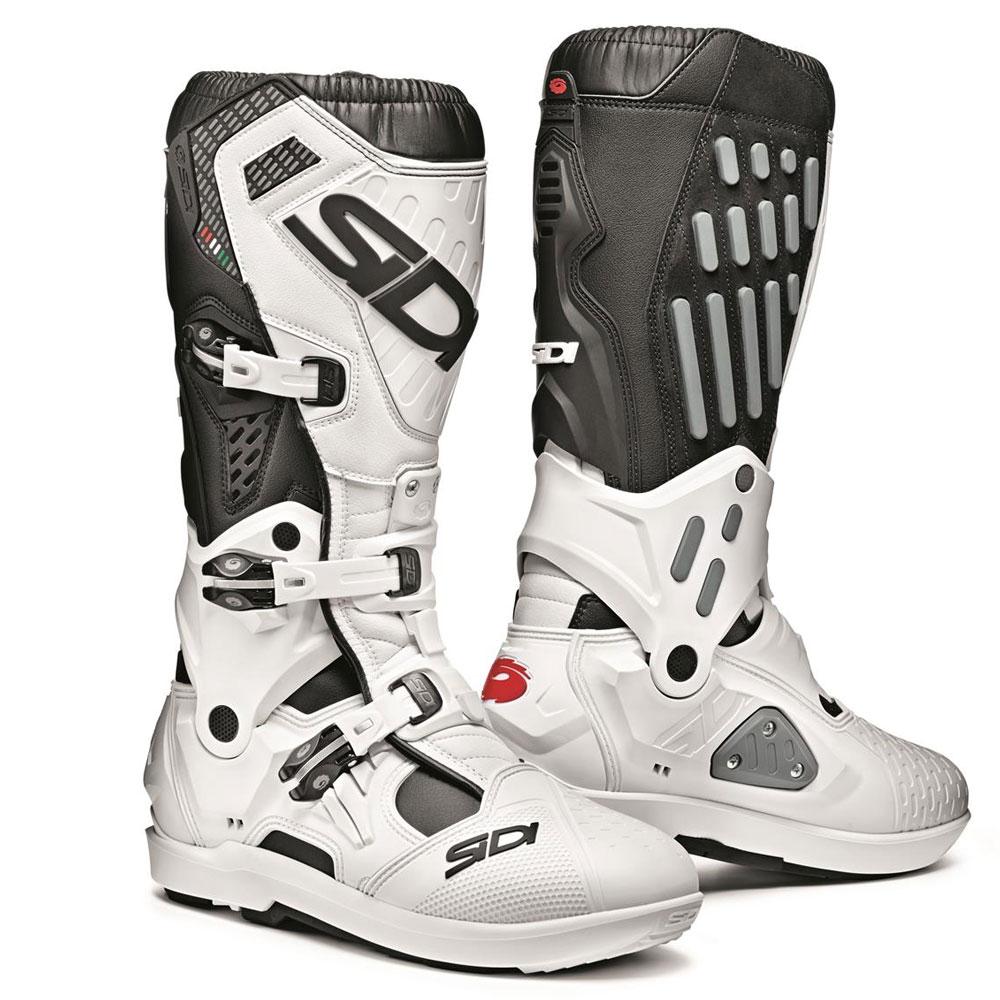 Dettagli su Sidi Crossfire 2 Srs Motocross MX Enduro Stivali da Moto NeroBianco