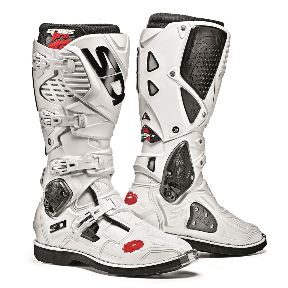 sidi crossfire 3 white boots motostorm. Black Bedroom Furniture Sets. Home Design Ideas