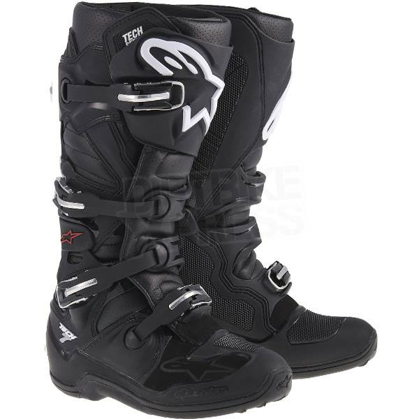 Alpinestars Tech 7 Black - Motocross Boots