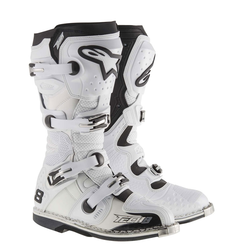 Alpinestars Tech 8 Rs Vented weiss