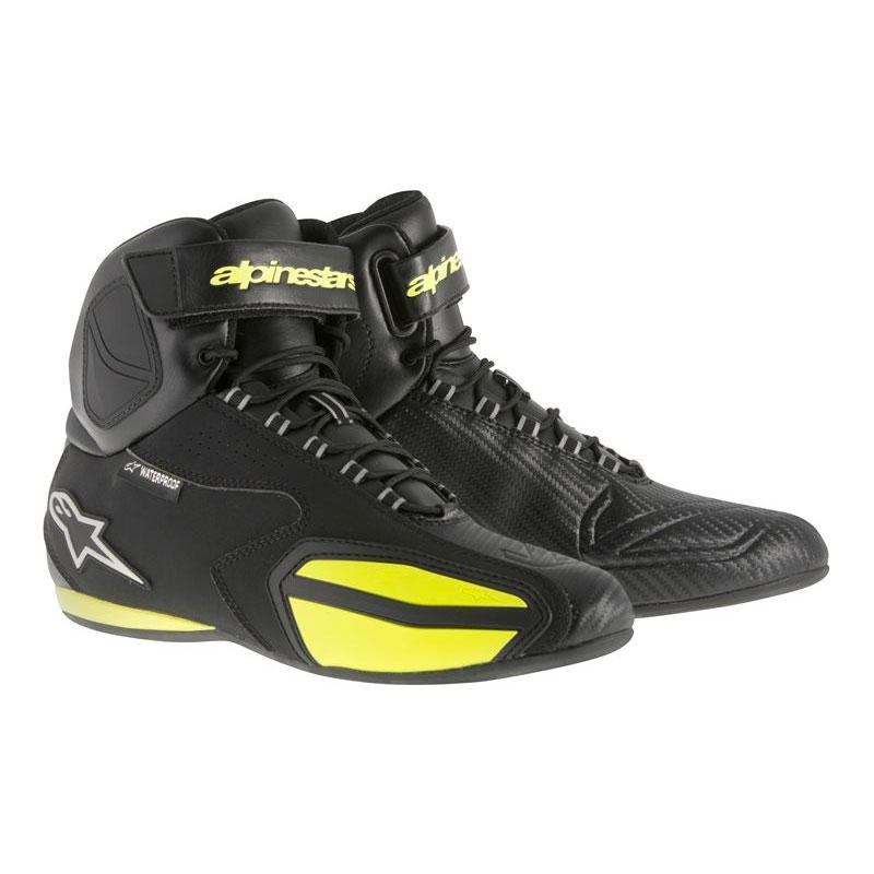 Alpinestars Faster Waterproof Shoes Black Yellow