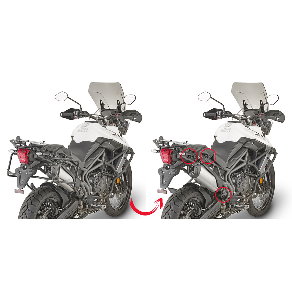 Givi Tubular Panner Holder Triumph Tiger 800xc Xr 2018 Givi Plr6413