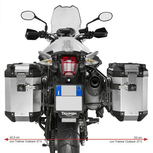 givi side rack for trekker outback triumph tiger 800 800xc motostorm. Black Bedroom Furniture Sets. Home Design Ideas