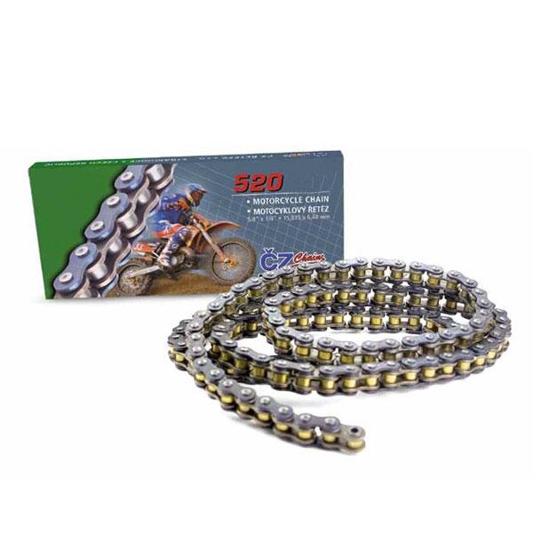 Catena O Ring Ox Ring.Cz Chain 520 X Ring Silver Rally 120 Link Mxm Cz520ecx 120