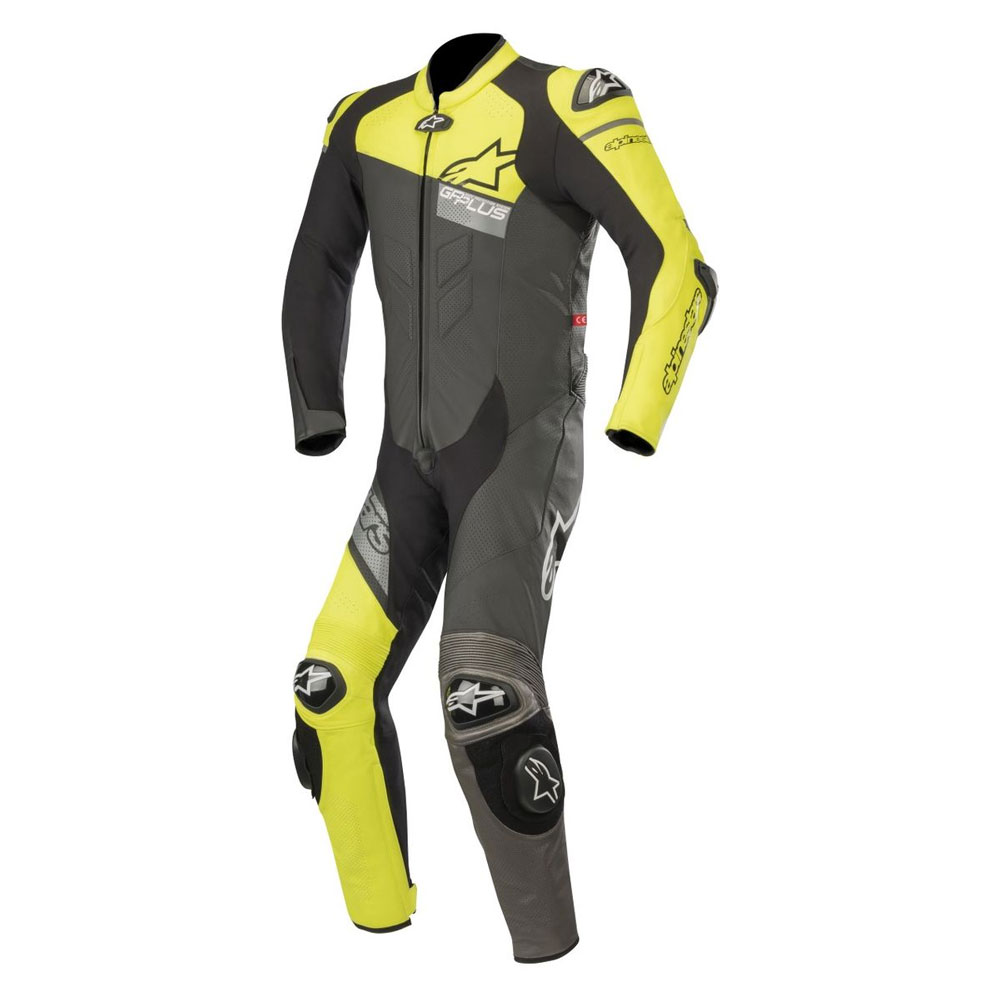 alpinestars gp plus v2 venom race suit yellow motostorm. Black Bedroom Furniture Sets. Home Design Ideas