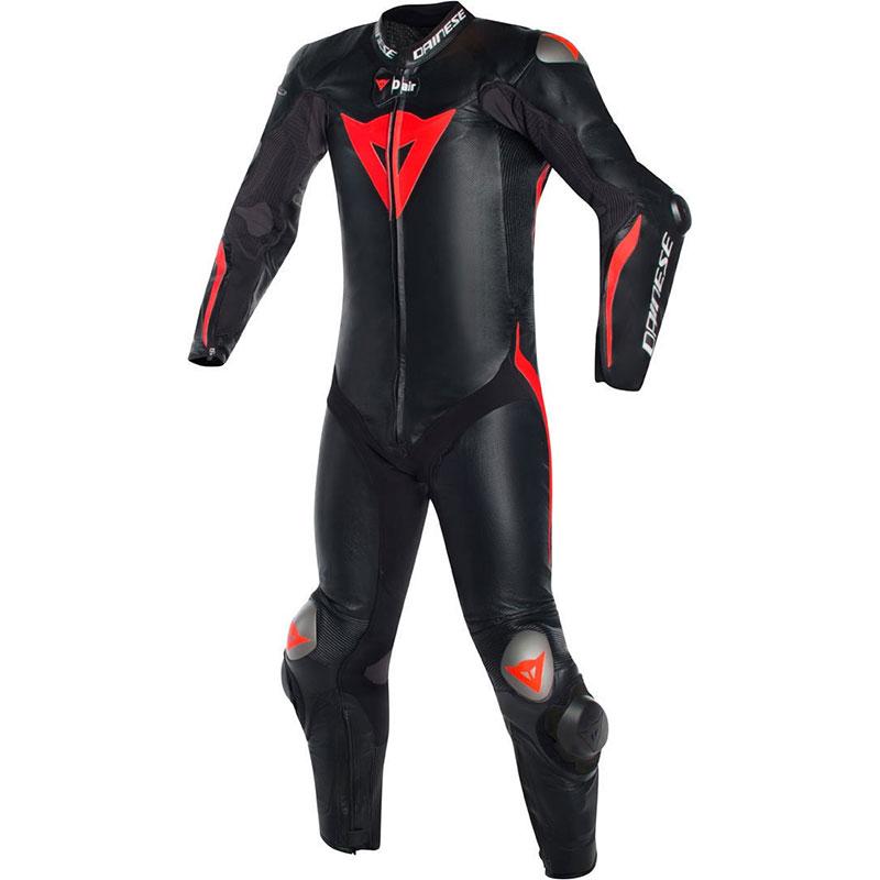 Dainese Mugello R D-air® Lederkombi Weiß-rot-schwarz