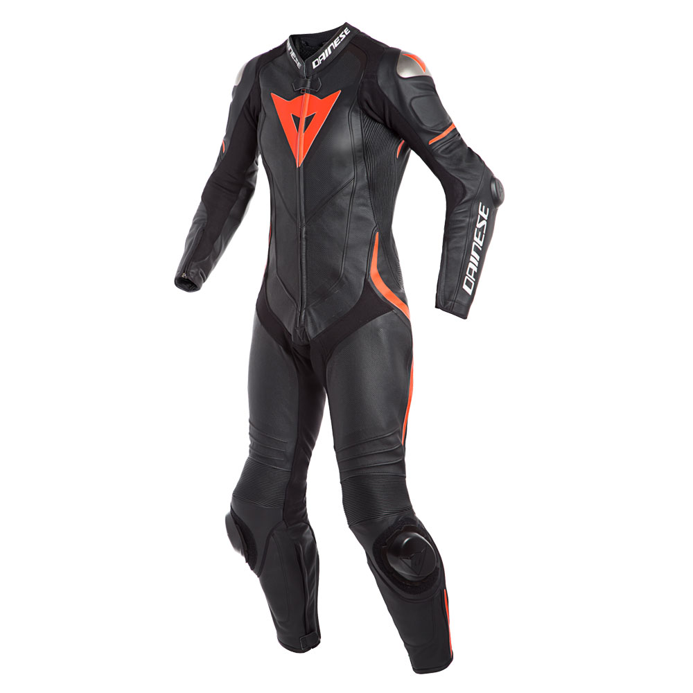 Dainese Laguna Seca 4 Perforated Race Suit Lady schwarz rot