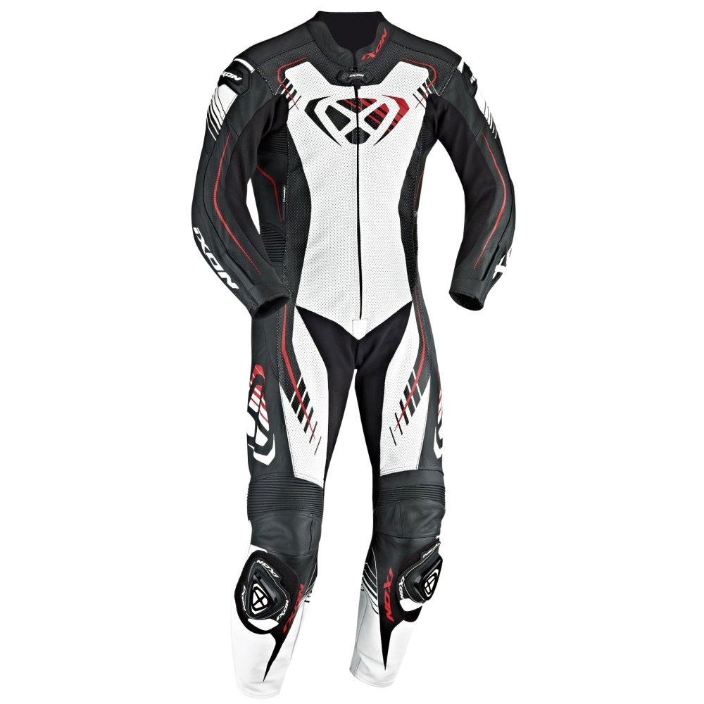 ixon one piece suit starbust 2 0 black white red motostorm