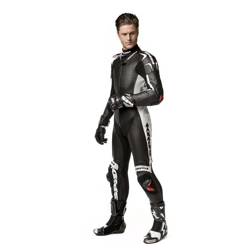 Spidi Replica Piloti Wind Pro Leather Suit Black | MotoStorm