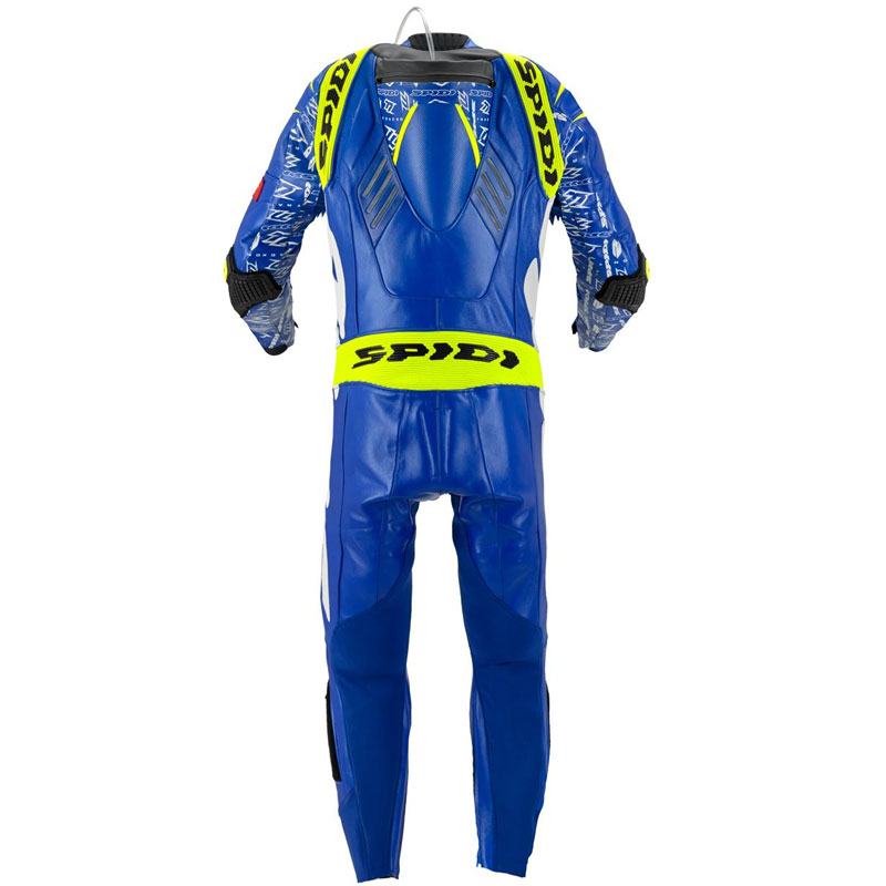Spidi Track Wind Replica Evo Blue Leather Suit | MotoStorm