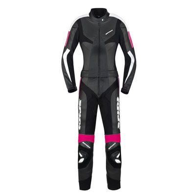 Spidi Poison Touring Leather Suit 2piece Black Fuchsia