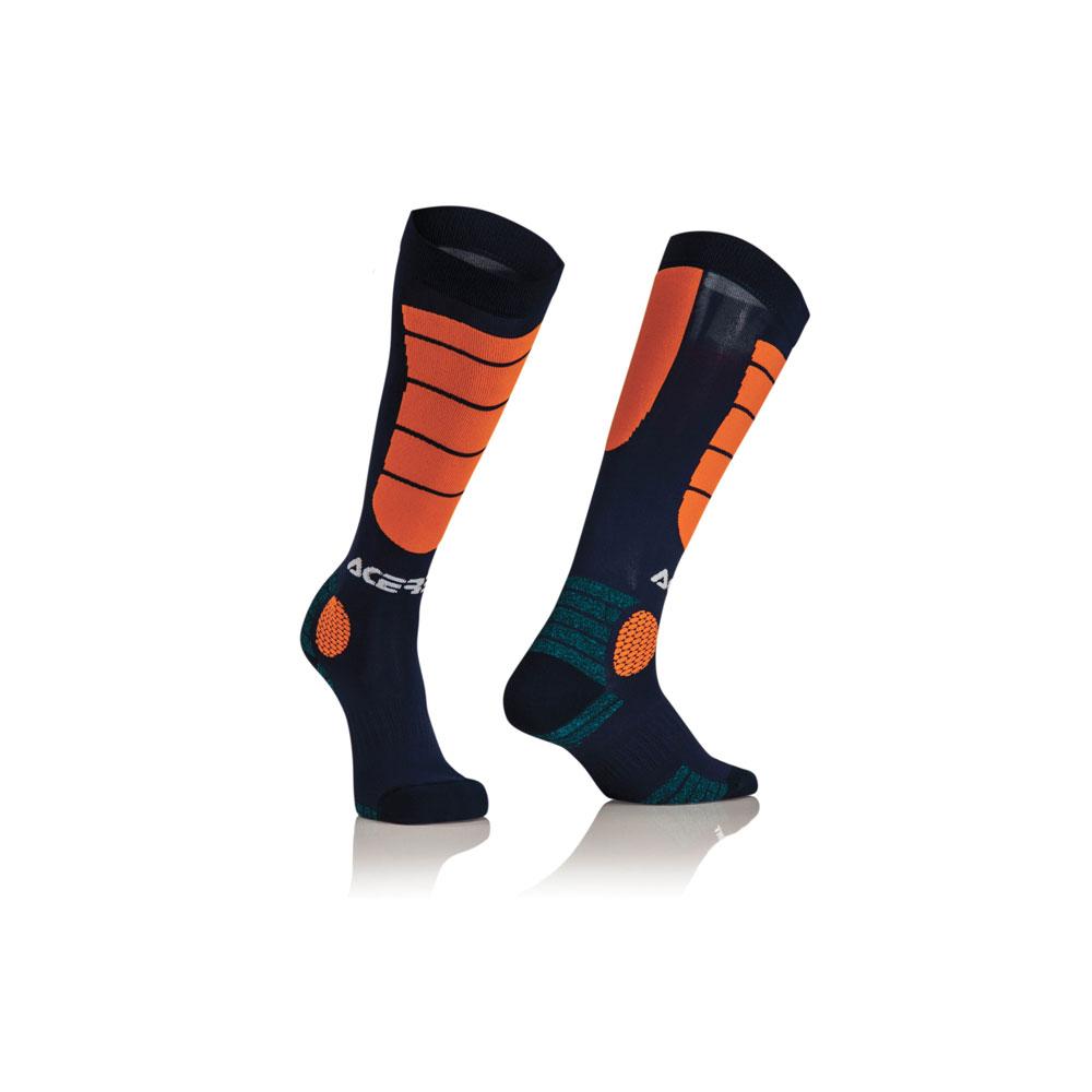 Acerbis Mx Impact Blue Orange Socks