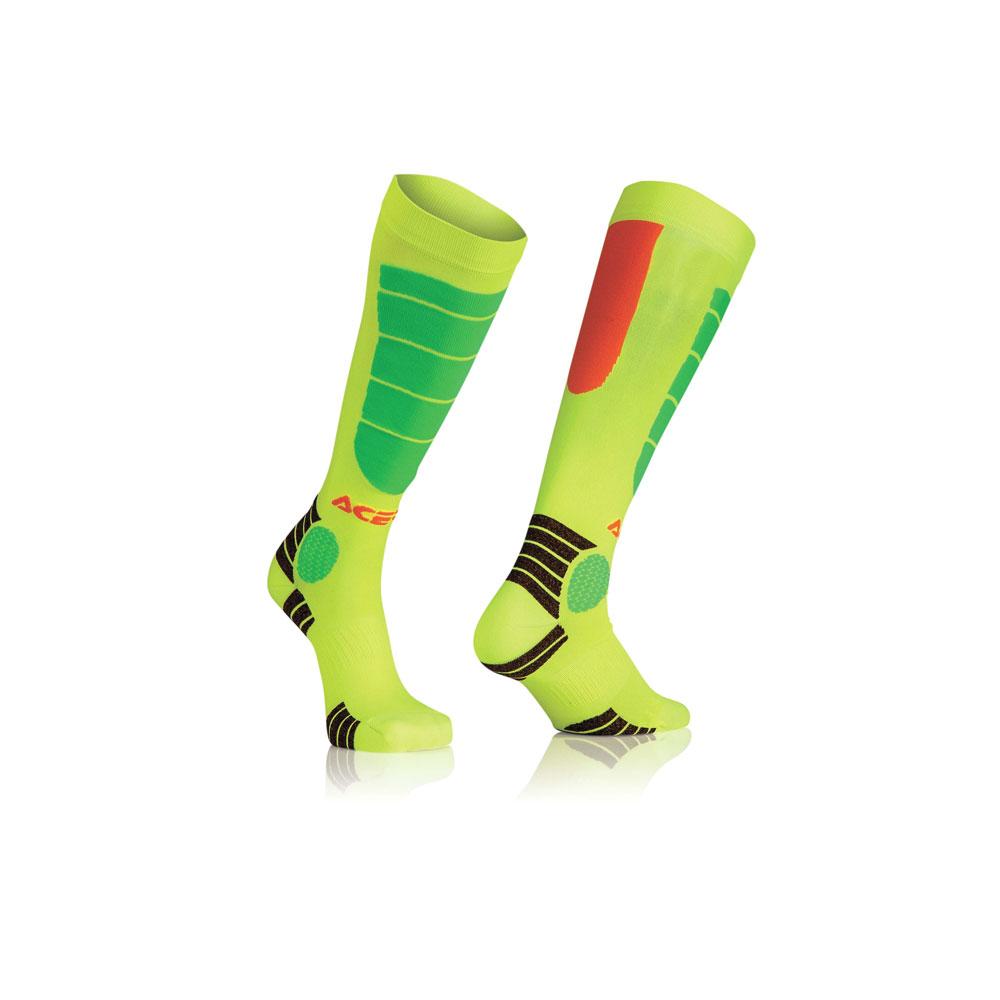 Acerbis Mx Impact Orange Yellow Socks
