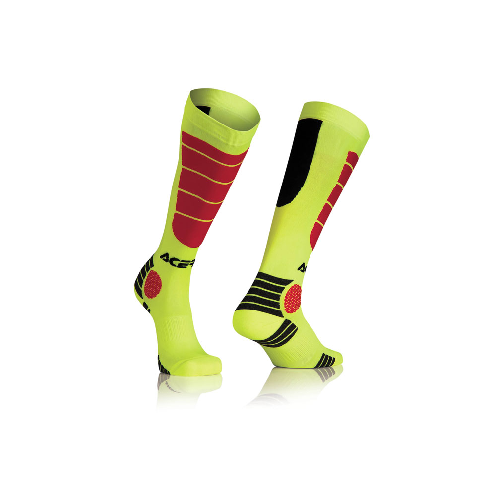 Acerbis Mx Impact Yellow Red Socks