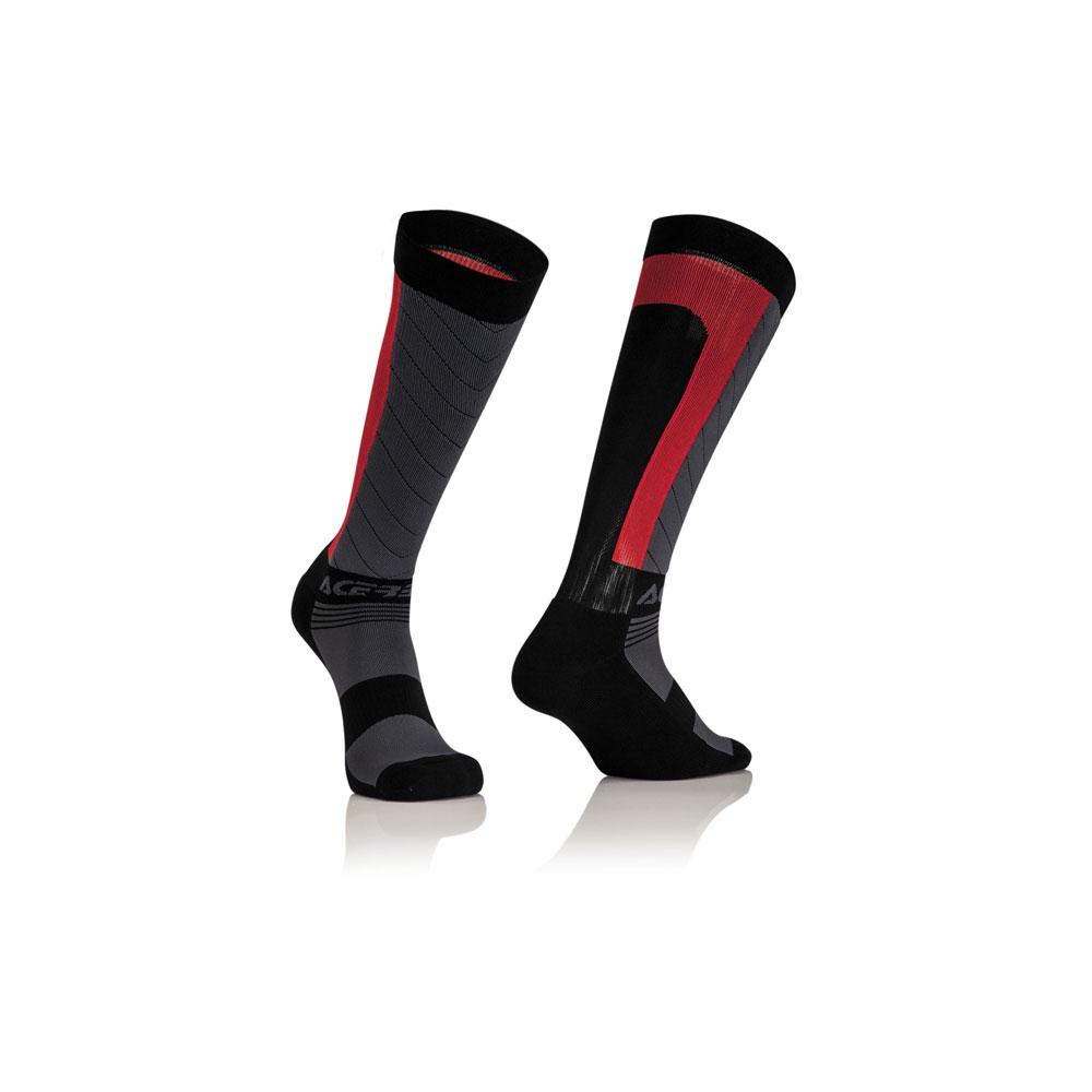 Acerbis Mx Compression Socks Black Red