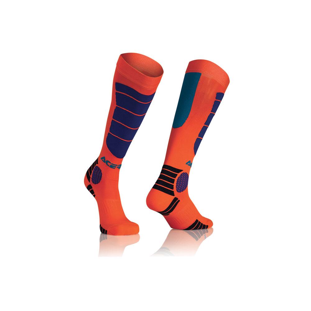 Acerbis Mx Impact Junior Orange Blue Socks