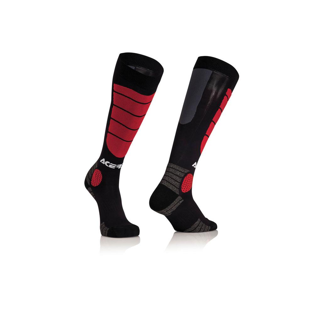 Acerbis Mx Impact Junior Black Red Socks