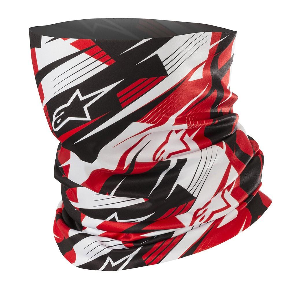 Alpinestars Blurred Neck Tube schwarz weiß rot