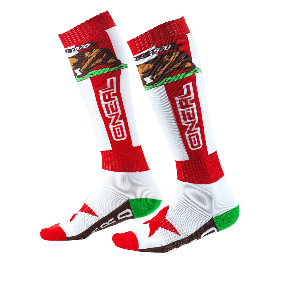 O Neal Pro MX California Socken rot weiß