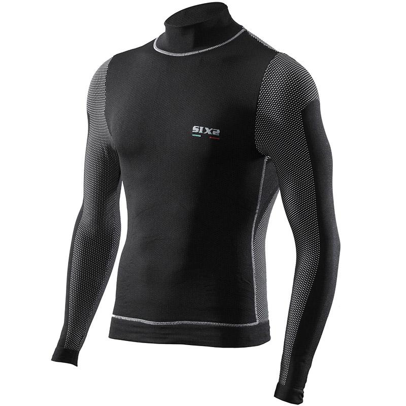 SIX2 TS4 Windshell Langarm Shirt schwarz