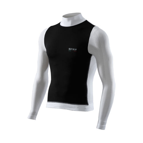 Six2 T-shirt Manica Lunga Lupetto Windshell Carbon Underwear 4stagioni