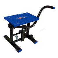RACETECH FOOT LIFT BIKE STAND CROSS BLUE