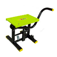 Racetech Foot Lift Bike Stand Cross Yellow Fluo