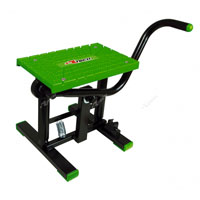 RACETECH FOOT LIFT BIKE STAND CROSS GREEN