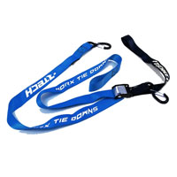 RACETECH TIE DOWNS W/SAFETY LOCK BLUE