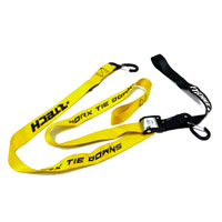RACETECH TIE DOWNS W/SAFETY LOCK YELLOW