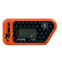 RACETECH WIRELESS ERASABLE HOUR METER ORANGE