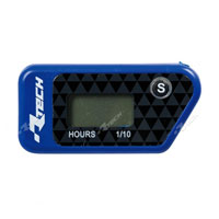 RACETECH WIRELESS ERASABLE HOUR METER BLUE
