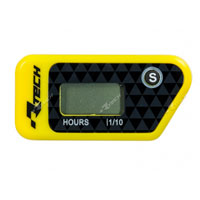RACETECH WIRELESS ERASABLE HOUR METER YELLOW