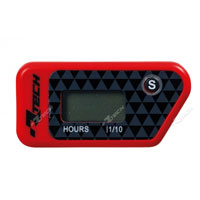 RACETECH WIRELESS ERASABLE HOUR METER RED