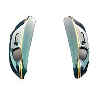 Arai Rx7-v/sz Ram X Diffuser Cafè Racer Green
