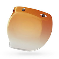Bell Visor 3 Snap Bubble Amber Gradient