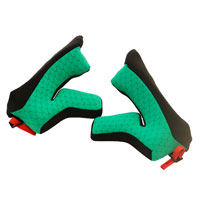 X-lite Cheek Pads X-502 Carbon Green