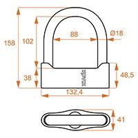 Kovix Ksu102 U-lock