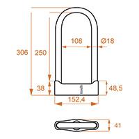 Kovix Ksu250 U-lock