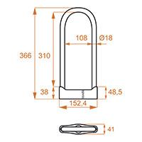 Kovix Ksu310s U-lock