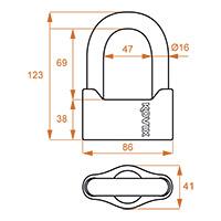 Kovix Ksu69 U-lock