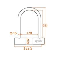 Kovix Ktl16-210 U-lock Black