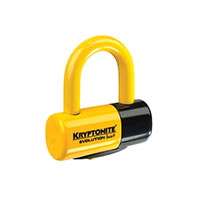 Kryptonite Lucchetto Evolution Disc Lock4 Giallo Ch.piatta