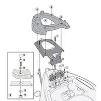 Givi Attacco Posteriore Sr6708 Per Bauletto Monokey O Monolock Aprilia Srv 850 (12 > 15)