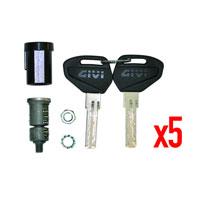 Givi Kit Security Lock Keys For 5 Bags Sl105