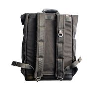 Helstons Back Pack Roll Black Brown