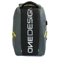 Mochila Onedesign Water Proof gris amarillo negro