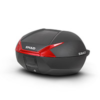 Shad Sh47 Top Case Black Red