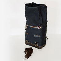 Unit Garage Borsa Canvas Nero Marrone